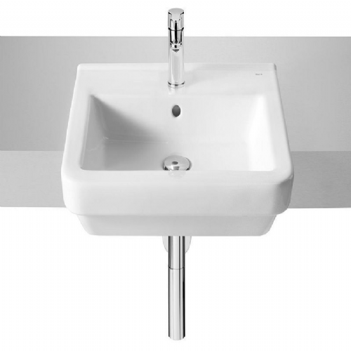 Roca Dama-N Semi-Recessed Basin -520mm - 1 Tap Hole - White